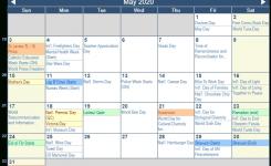 May 2020 Calendar With Holidays – Canada