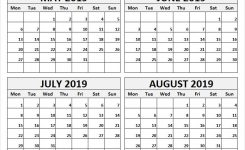 May To August 2019 Month Calendar 2019 May Calendar Word