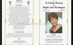 Memorial Service Template Download Free Funeral Program Templates