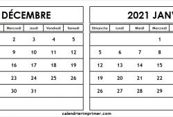 Calendrier Decembre 2020 Janvier 2021 A Imprimer