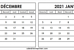 Decembre 2020 Janvier 2021 Calendrier