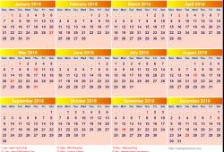 Monaco Calendar 2018