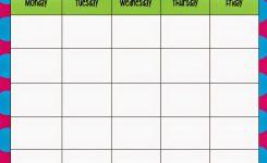 Monday Through Friday Calendar Template Preschool Calendar
