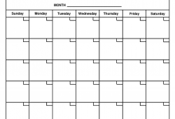 Monthly At A Glance Calendar Free