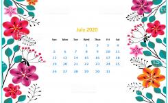 Monthly 2020 Desktop Calendar Wallpapers