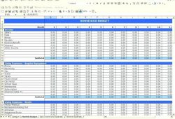 Excel Income Expense Spreadsheet Template