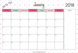 Print Free Calendar 2018 Monthly