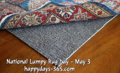 National Lumpy Rug Day May 3 2018 Happy Days 365