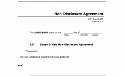 Nda Agreement Awesome Sample Non Disclosure Agreement Employee