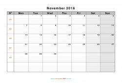 November 2019 Calendar Note Pdf Word Image