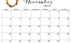 November 2018 Calendar Printable Free November Calendar