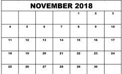 November 2018 Printable Calendar Waterproof Printable Calendar