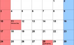 November 2019 Calendars For Word Excel Pdf