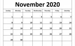 November 2020 Calendar January December Calendar September