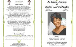 Obituary Program Template Canasbergdorfbibco