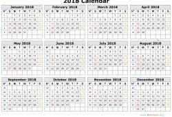 Free Word Calendar 2018 Uk