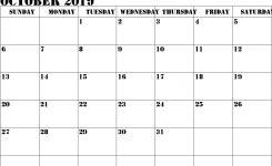 October 2019 Calendar Pdf Printable Weekly Calendar
