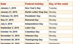 October 2019 Calendar With Holidays 2018 Calendar Printable