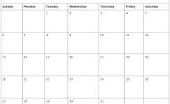 October 2019 Calendar Word Printable Calendar Yearly