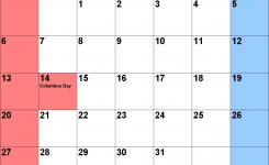 October 2019 Calendars For Word Excel Pdf