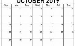October 2019 Printable Calendars Luxe Calendar