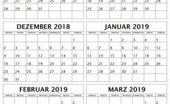 Oktober November Dezember 2018 Januar Februar Marz 2019 Kalender