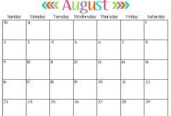 Online Printable Monthly Calendar