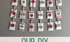 Our Diy Advent Calendar With Free Printables Advent Calendars