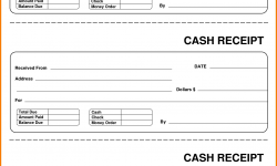 Cash Payment Receipt Template Free