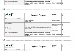 Monthly Payment Coupon Templates