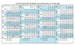 Payroll Calendar 2020 Fiscal Year Calendar Oct 2019 Sep 2020