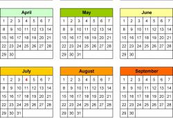 Perpetual Calendar Usa