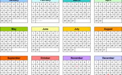Perpetual Calendars 7 Free Printable Word Templates