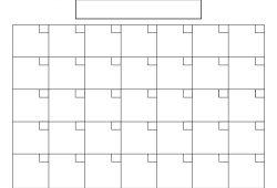 Free Blank 31 Day Calendar Template
