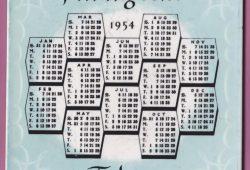 1954 Calendar Uk