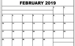 Pin 2019calendarprintabletemplate On February 2019 Calendar