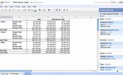 Pivot Tables In Google Docs Youtube