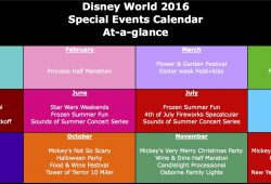 Disney World Event Calendar 2014