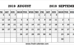 Portrait Calendar July August September 2019 2019 Calendar Month