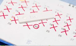 Positive Pregnancy Test With Calendar Stock Image Image Of Diary