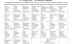 Prayer Calendar Template Free Calendar 2017 2018