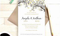 Pretty One Page Wedding Invitations Gallery Invitation Card