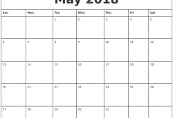 Calendar 2018 Free Printing