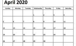 April 2020 Printable Calendar