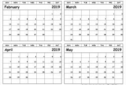 February May 2019 Calendar Template