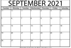 Print Free Calendar September 2021