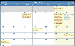 Print Friendly May 2021 Belgium Calendar For Printing