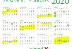 Calendar 2020 South Africa Holidays