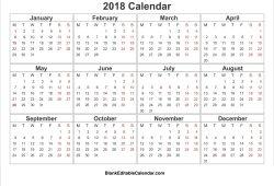 Calendars Free Printable 2018