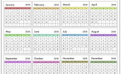 Printable 2018 Calendar Uk Seven Photo